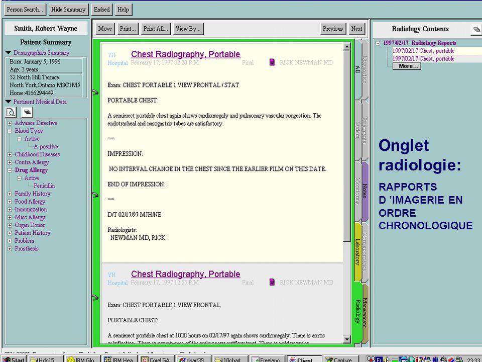 Onglet radiologie: RAPPORTS D 'IMAGERIE EN ORDRE CHRONOLOGIQUE