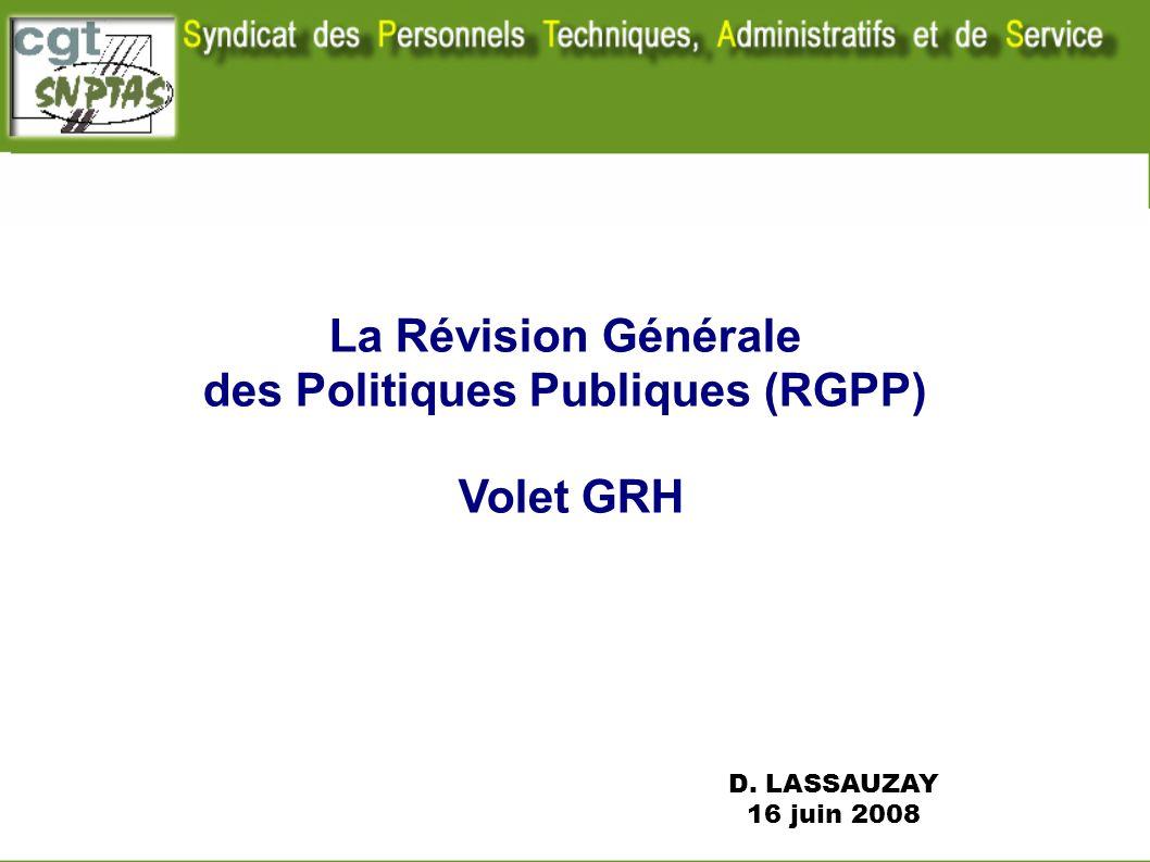 des Politiques Publiques (RGPP)