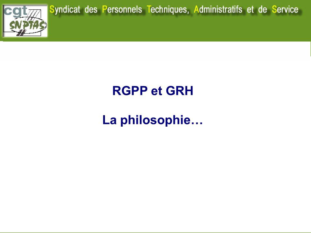 RGPP et GRH La philosophie…