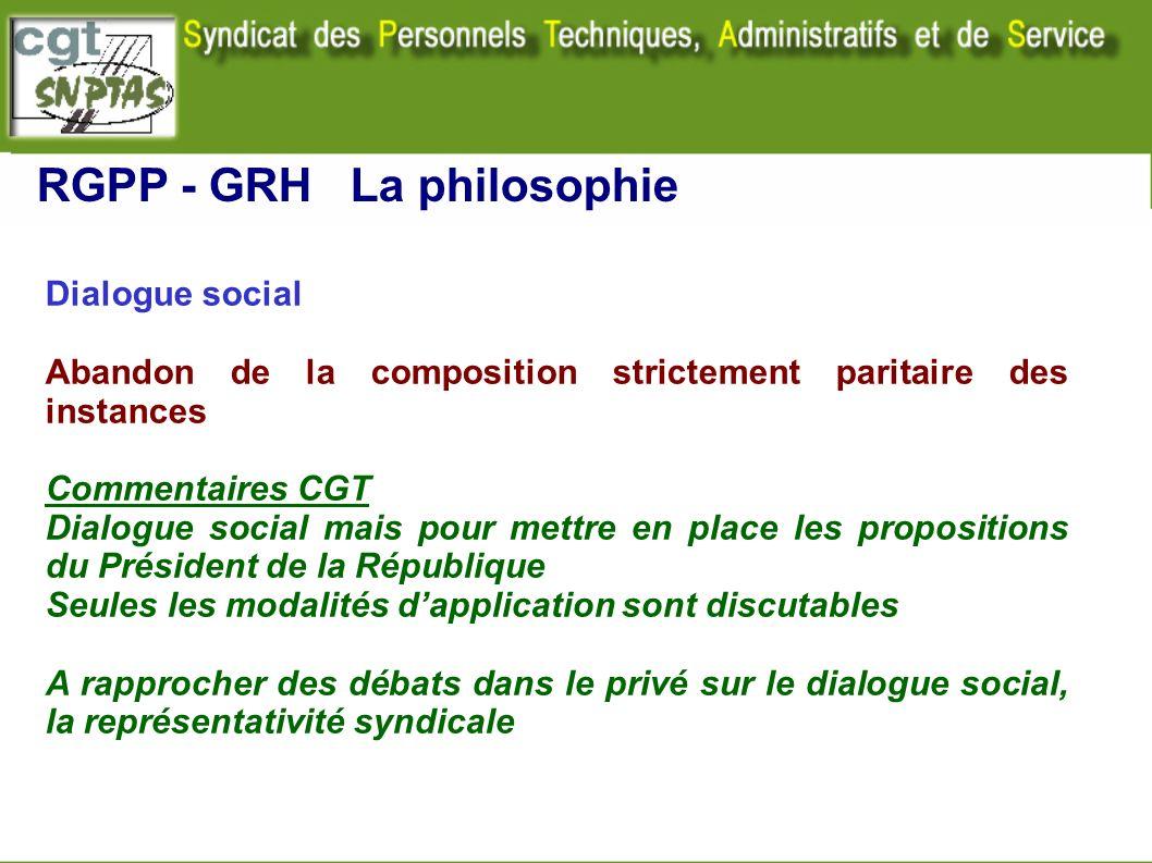 RGPP - GRH La philosophie