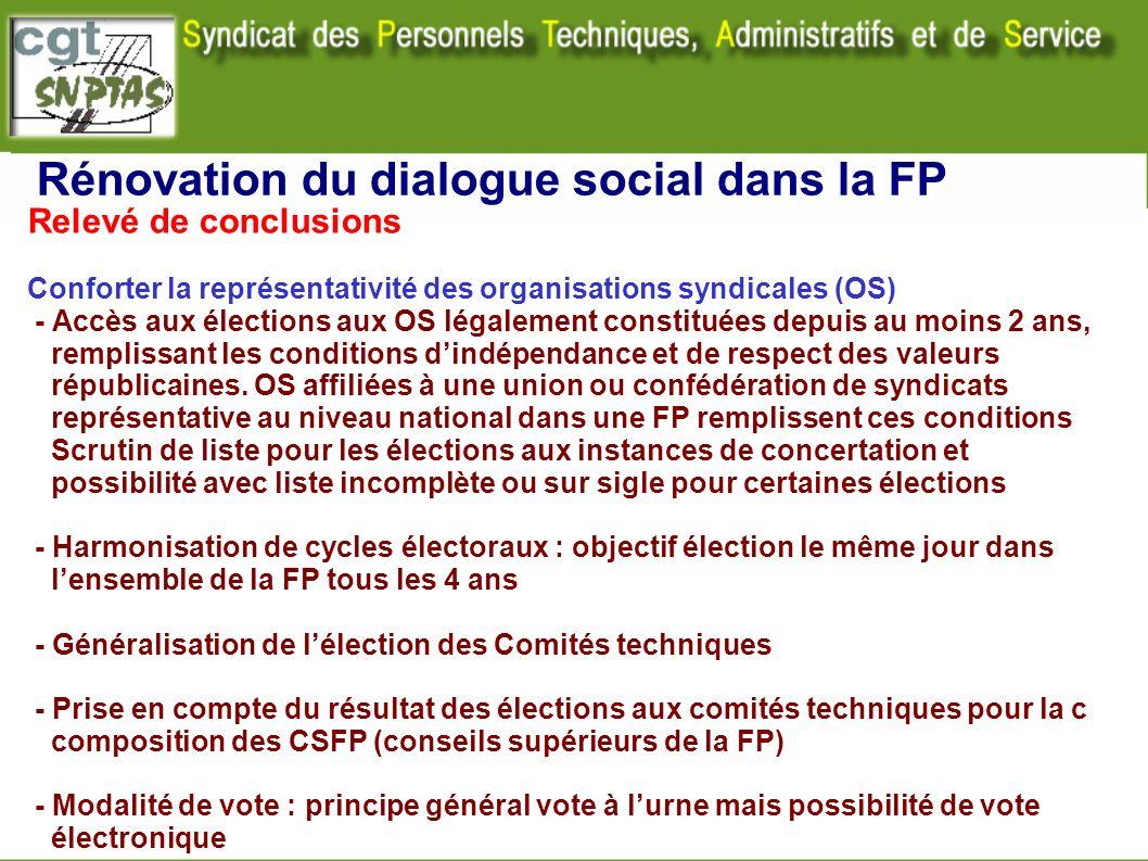 Rénovation du dialogue social dans la FP