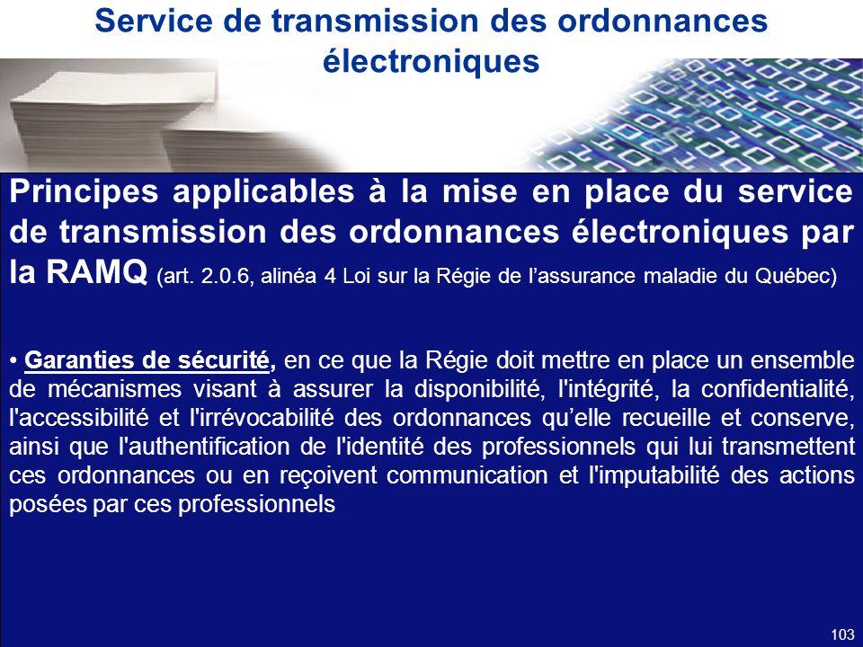 Service de transmission des ordonnances électroniques
