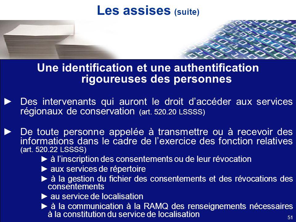 Une identification et une authentification rigoureuses des personnes