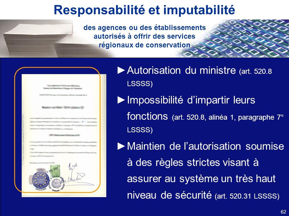 Responsabilité et imputabilité