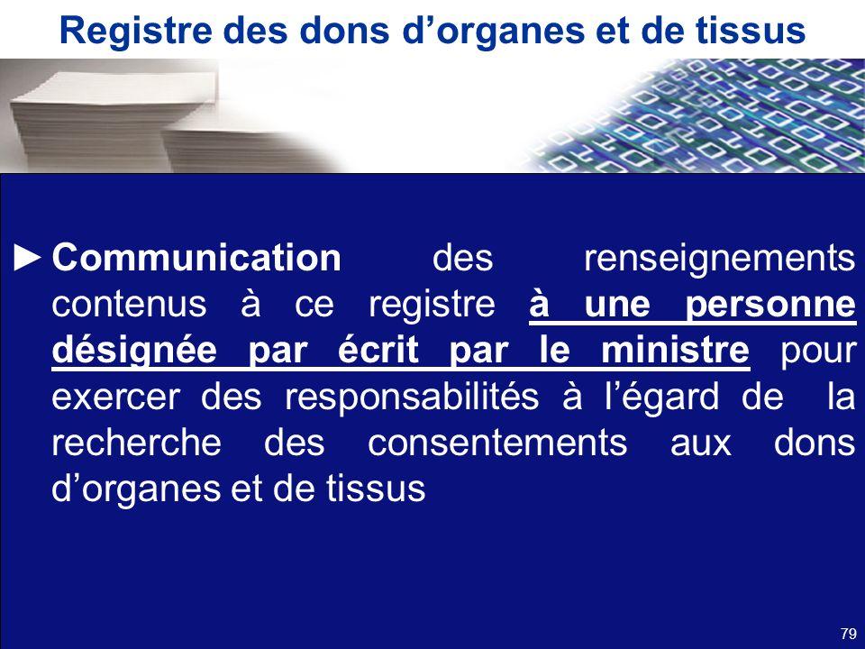 Registre des dons d'organes et de tissus