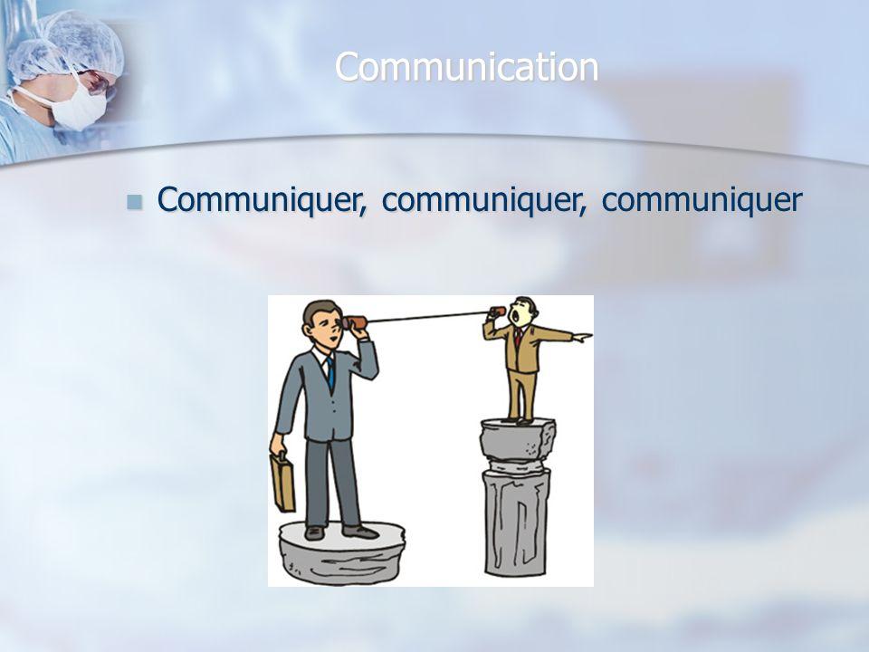 Communication Communiquer, communiquer, communiquer