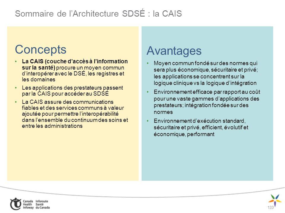 Sommaire de l'Architecture SDSÉ : la CAIS