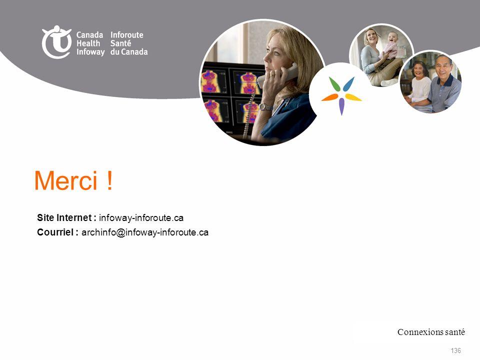 Merci ! Site Internet : infoway-inforoute.ca