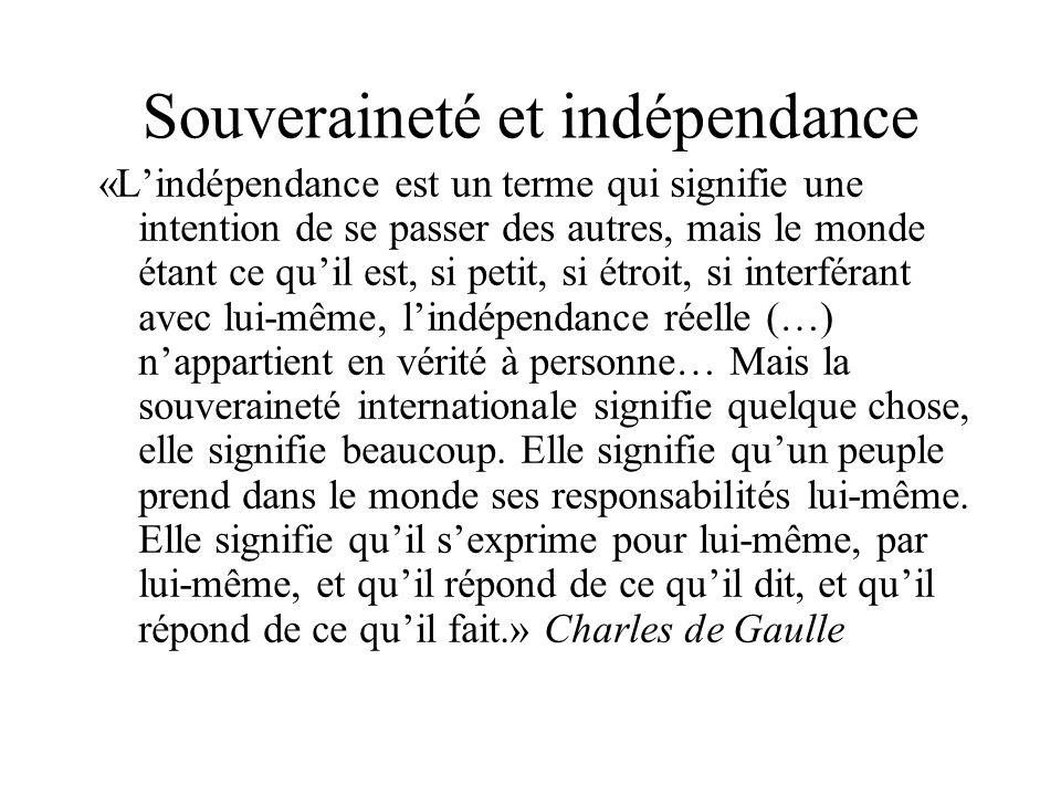 Souveraineté et indépendance