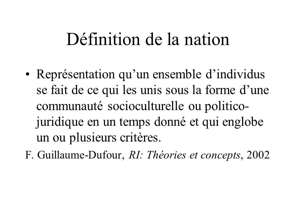 Définition de la nation