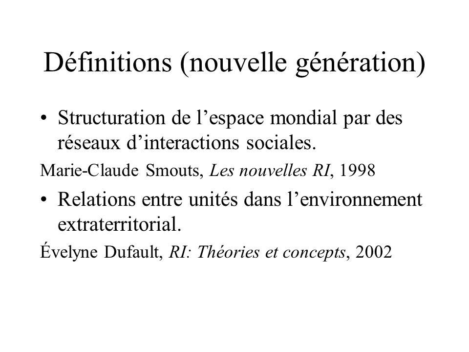 Définitions (nouvelle génération)