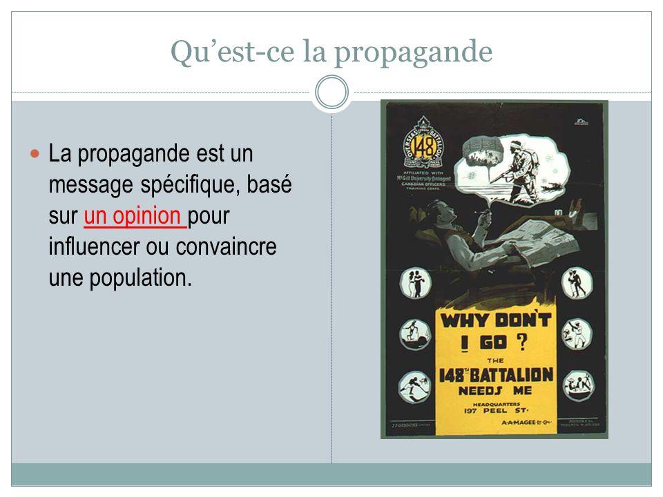 Qu'est-ce la propagande