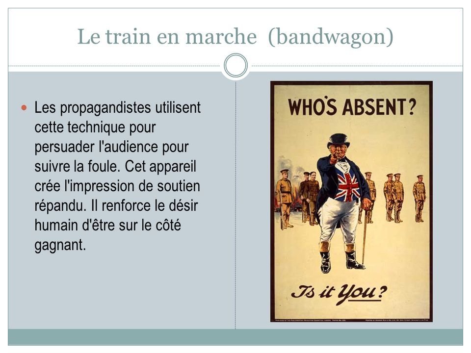 Le train en marche (bandwagon)