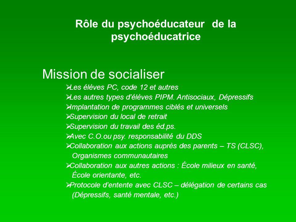 Rôle du psychoéducateur de la psychoéducatrice