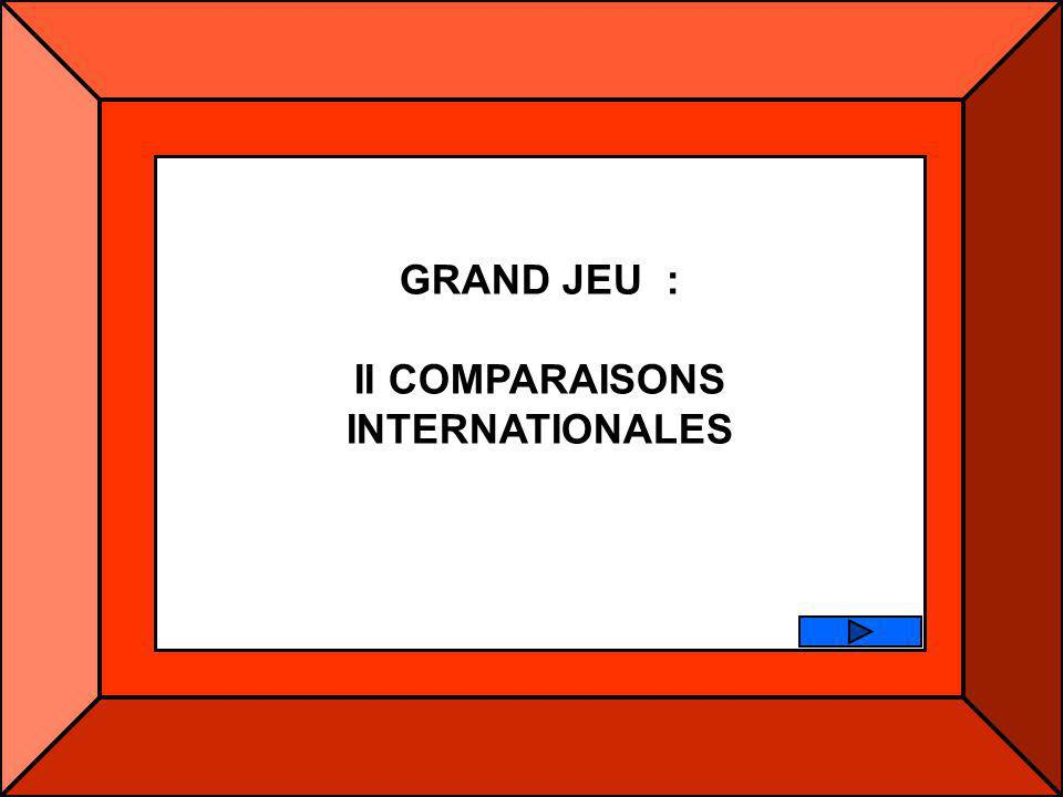 GRAND JEU : II COMPARAISONS INTERNATIONALES