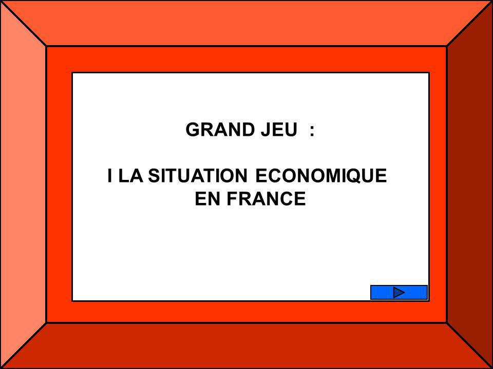 I LA SITUATION ECONOMIQUE