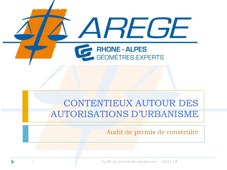 CONTENTIEUX AUTOUR DES AUTORISATIONS D'URBANISME