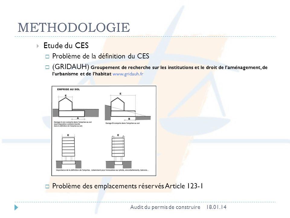 METHODOLOGIE Etude du CES Problème de la définition du CES