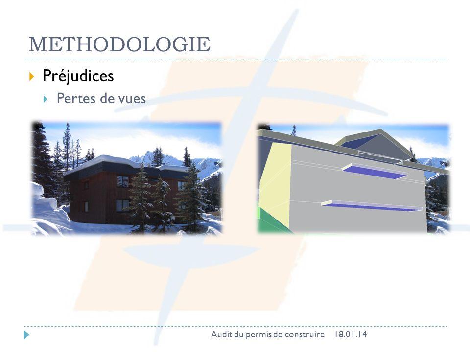 METHODOLOGIE Préjudices Pertes de vues Audit du permis de construire