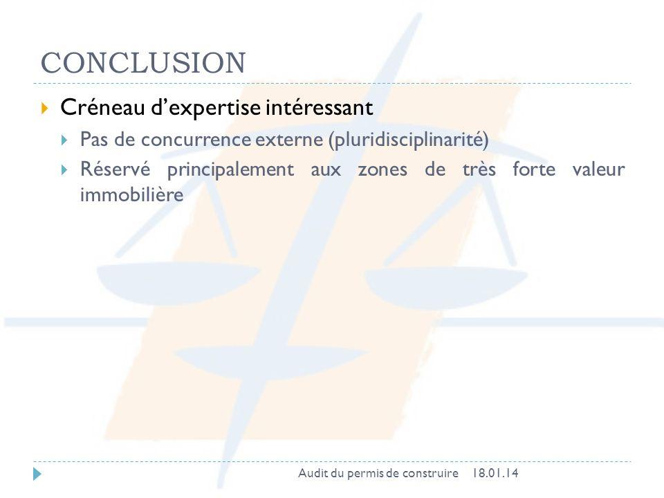 CONCLUSION Créneau d'expertise intéressant