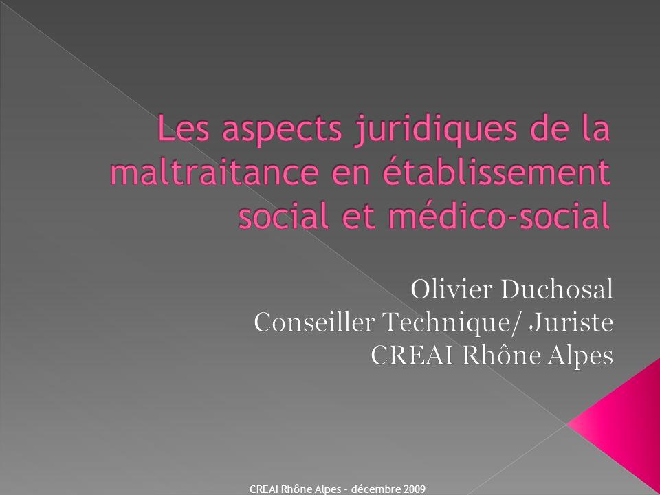 Olivier Duchosal Conseiller Technique/ Juriste CREAI Rhône Alpes