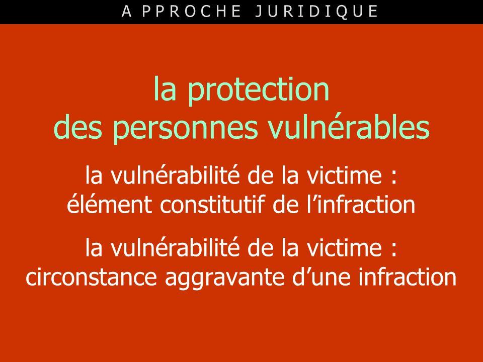 la protection des personnes vulnérables