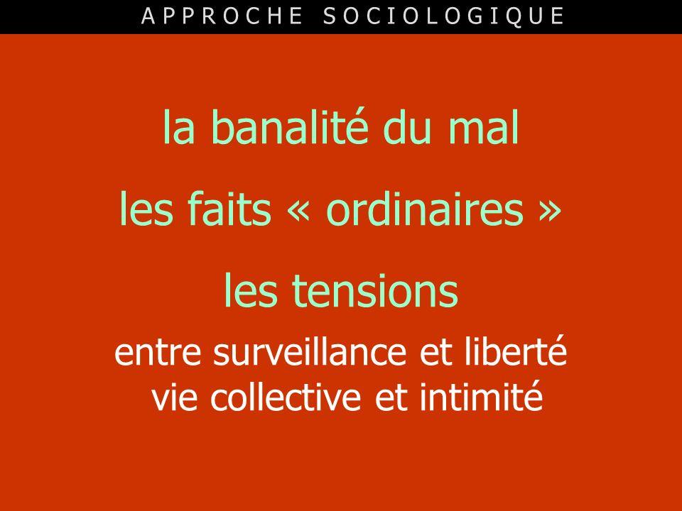 les faits « ordinaires » les tensions