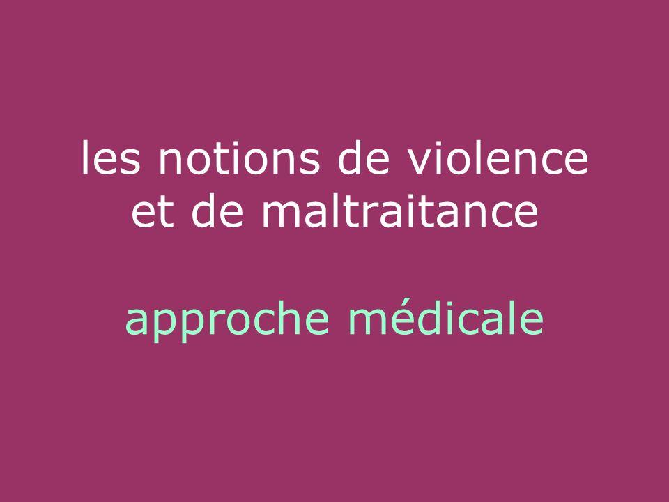les notions de violence et de maltraitance approche médicale