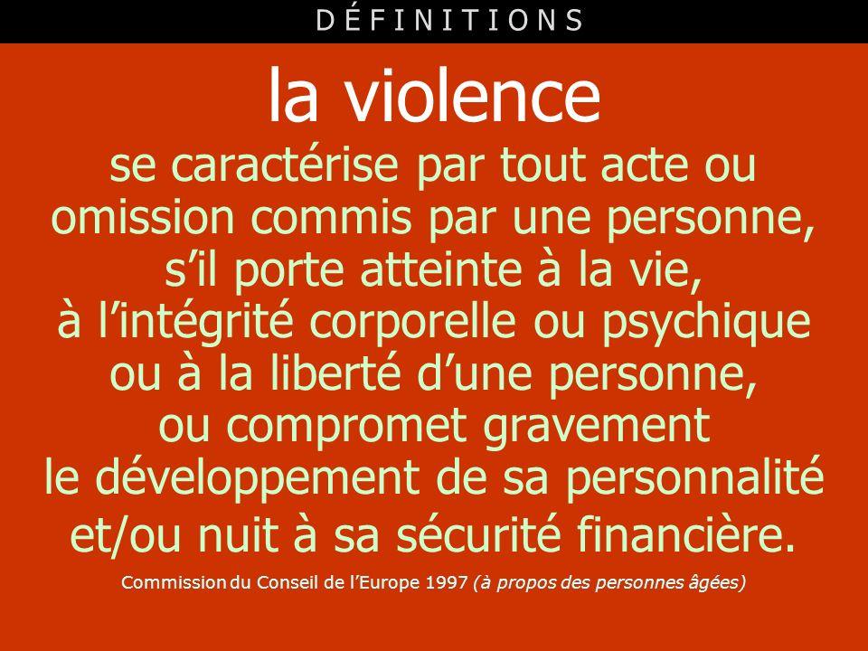la violence se caractérise par tout acte ou
