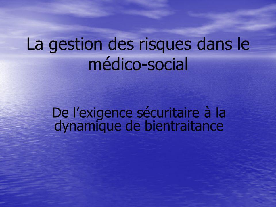 La gestion des risques dans le médico-social