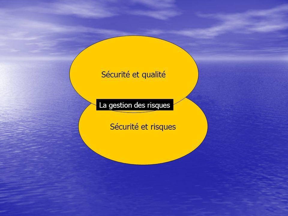 Sécurité et qualité Sécurité et risques La gestion des risques