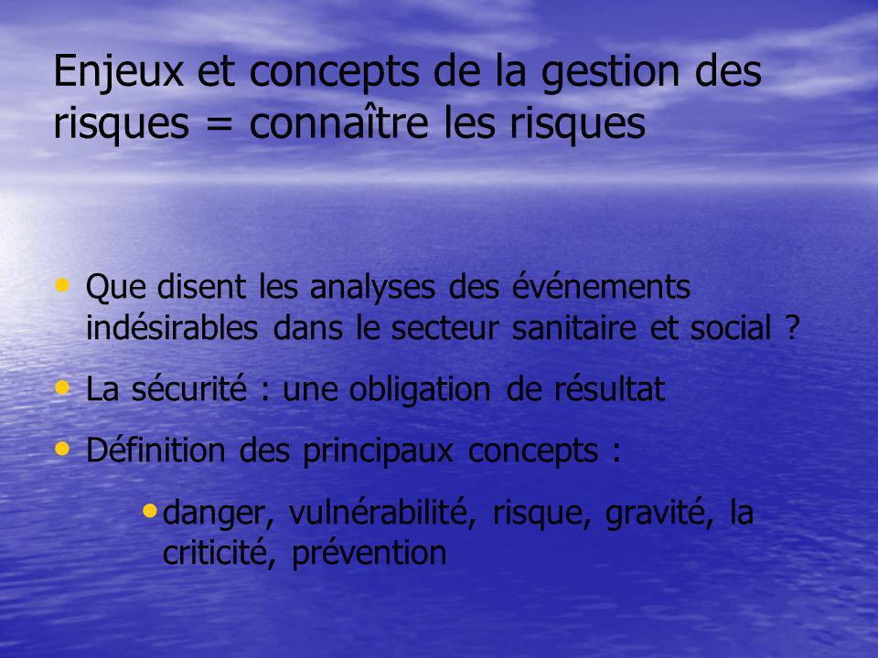 Enjeux et concepts de la gestion des risques = connaître les risques
