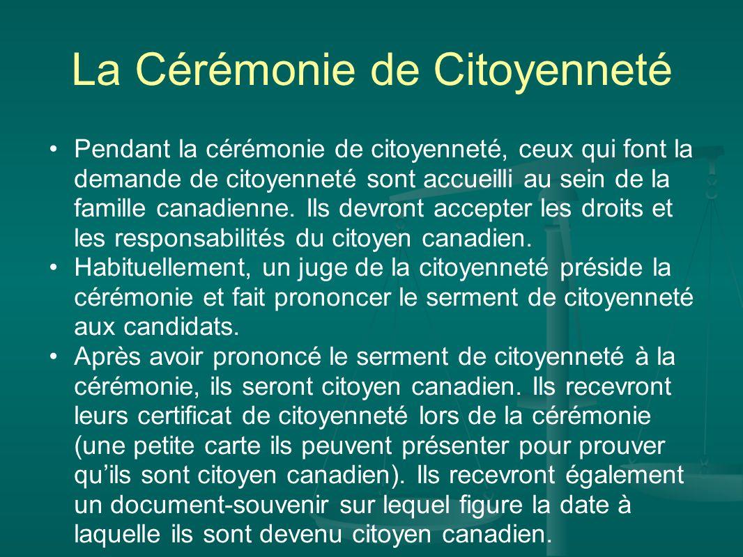 La Cérémonie de Citoyenneté