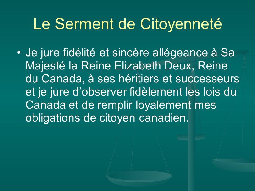 Le Serment de Citoyenneté
