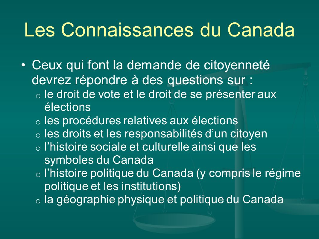 Les Connaissances du Canada