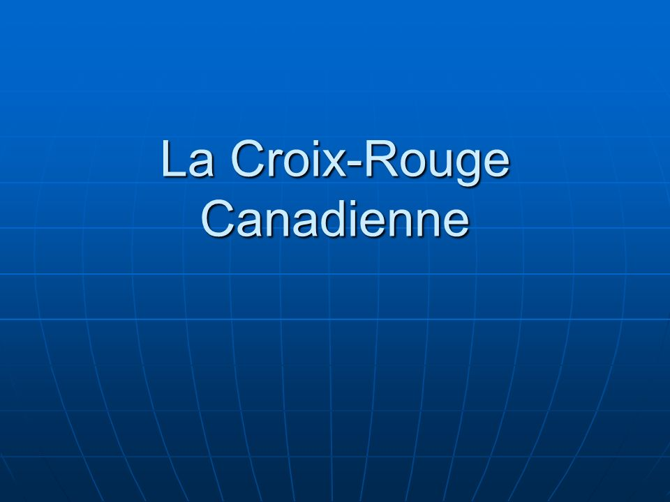 La Croix-Rouge Canadienne