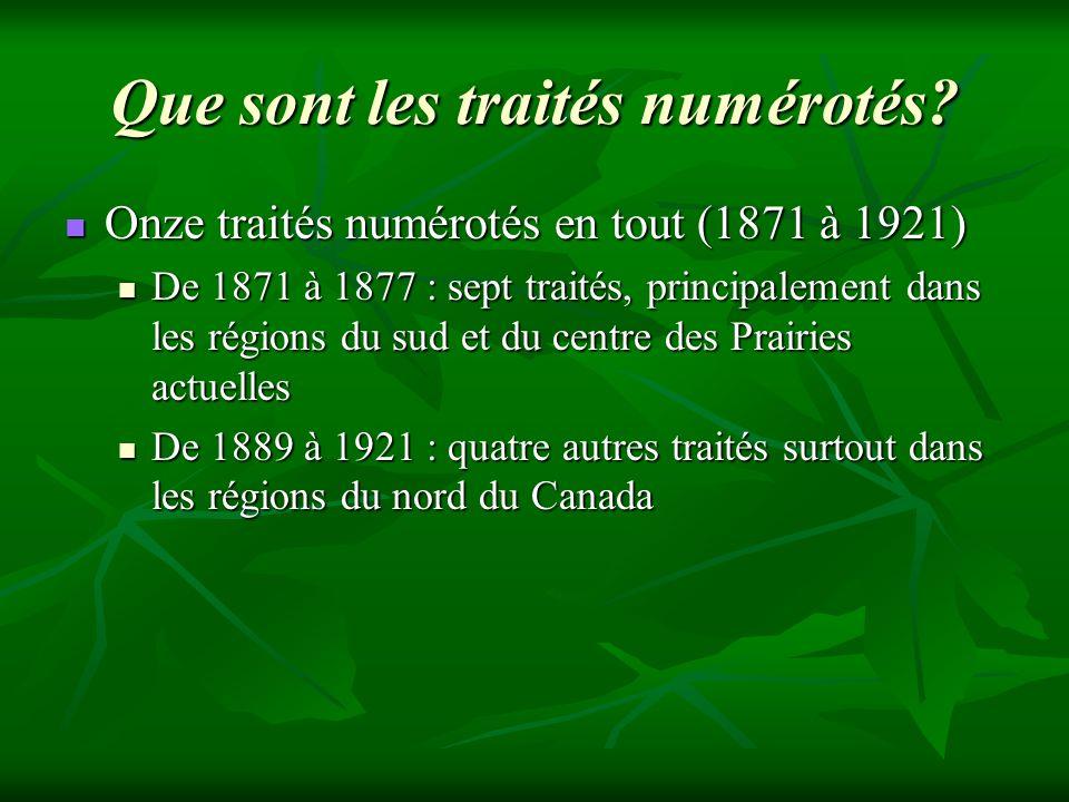 Que sont les traités numérotés