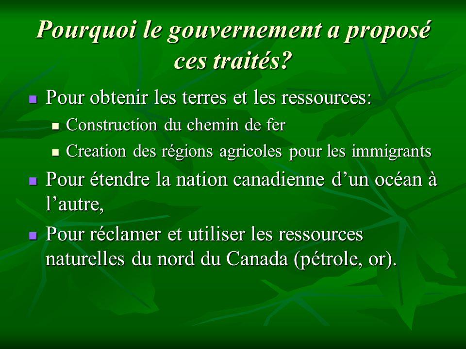 Pourquoi le gouvernement a proposé ces traités
