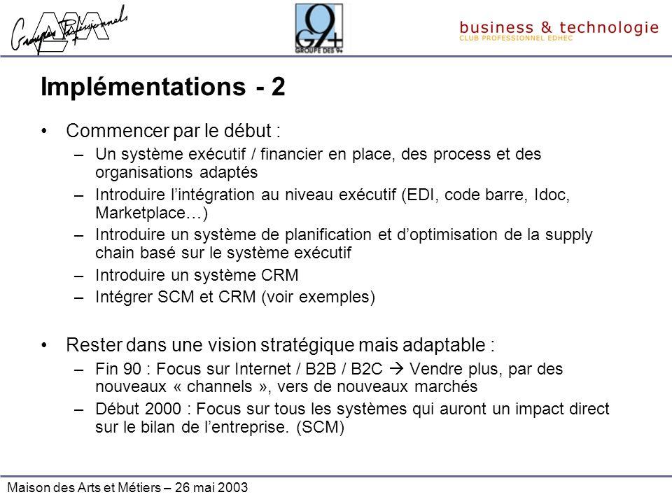 Implémentations - 2 Commencer par le début :