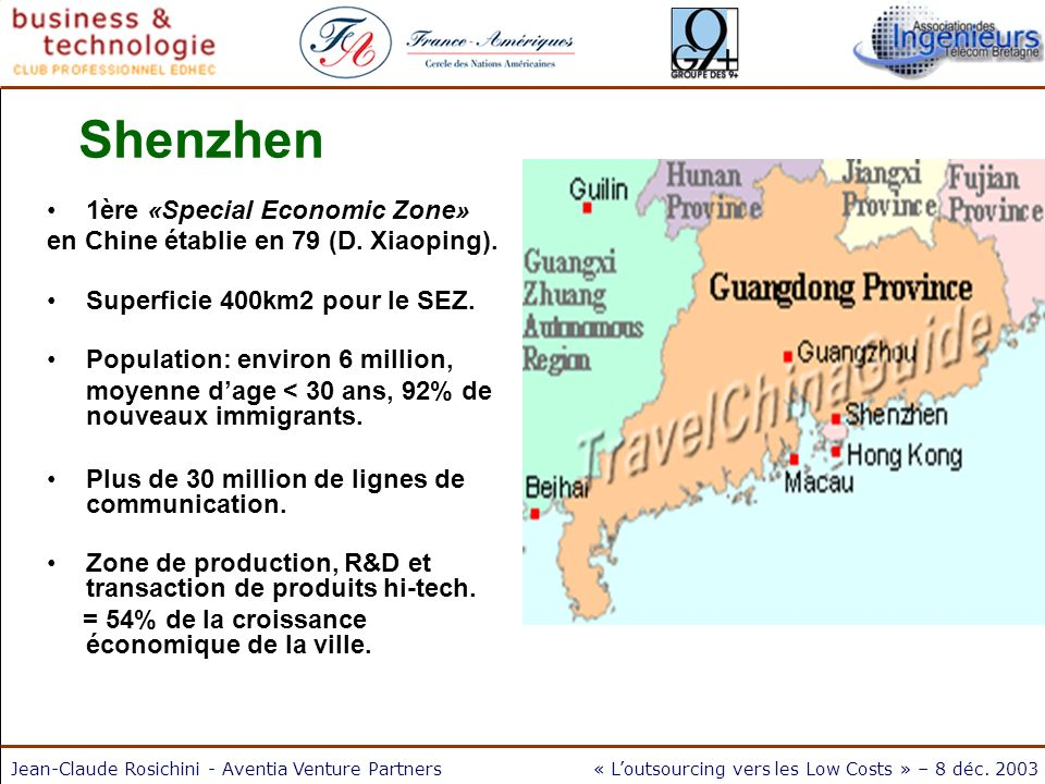 Shenzhen 1ère «Special Economic Zone»