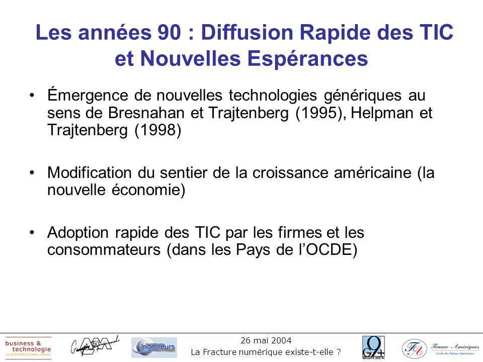 Les années 90 : Diffusion Rapide des TIC et Nouvelles Espérances