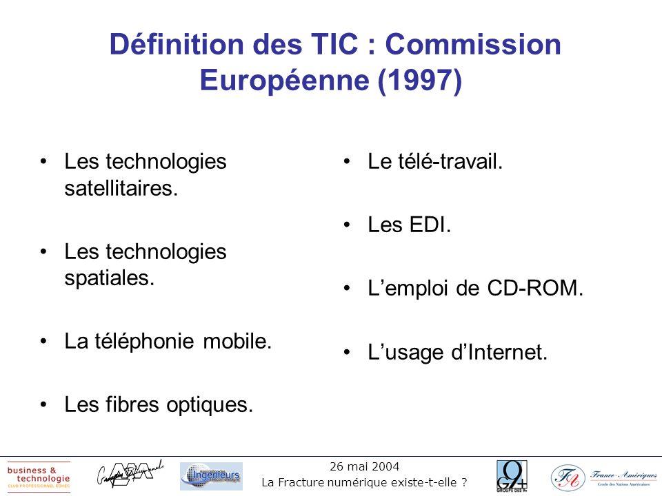 Définition des TIC : Commission Européenne (1997)