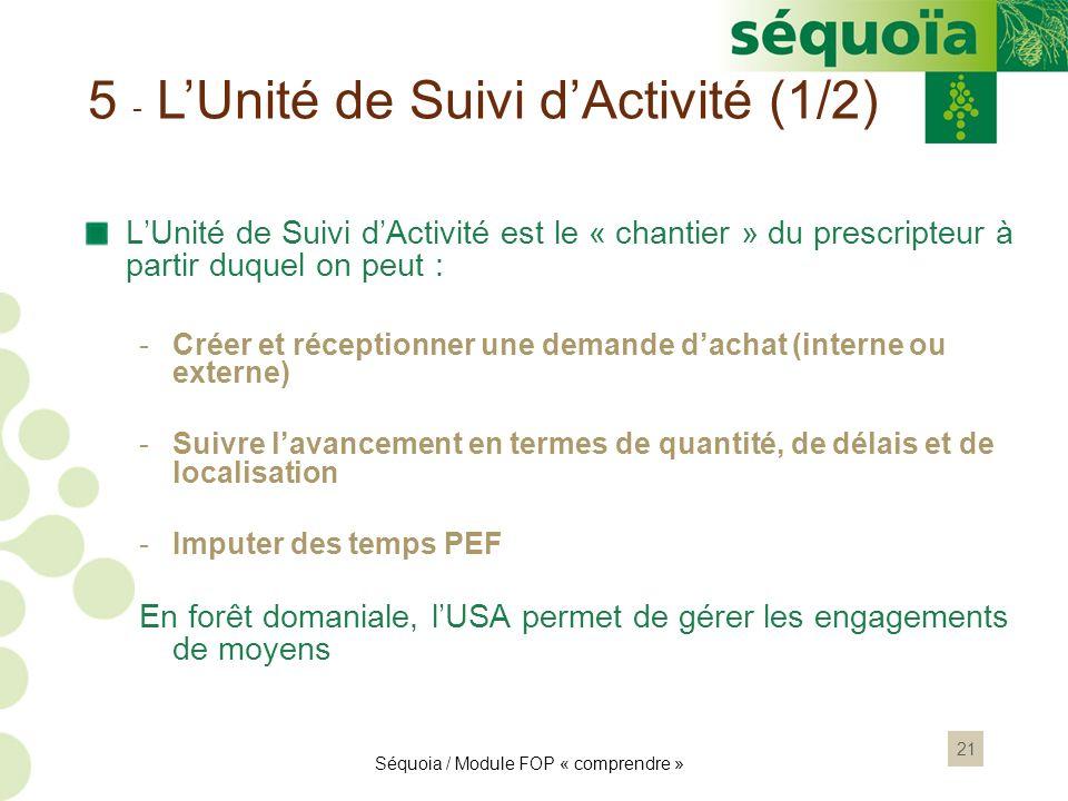 5 - L'Unité de Suivi d'Activité (1/2)