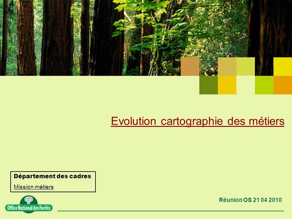 Evolution cartographie des métiers