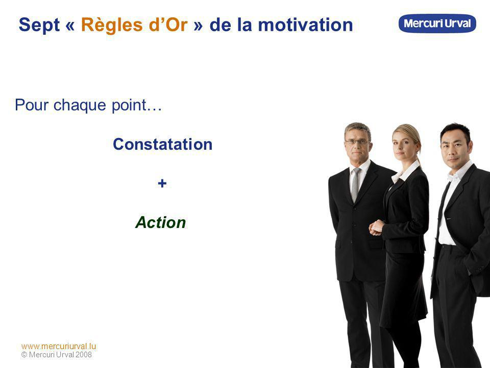 Sept « Règles d'Or » de la motivation