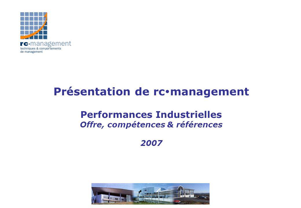 Présentation de rcmanagement Performances Industrielles Offre, compétences & références 2007
