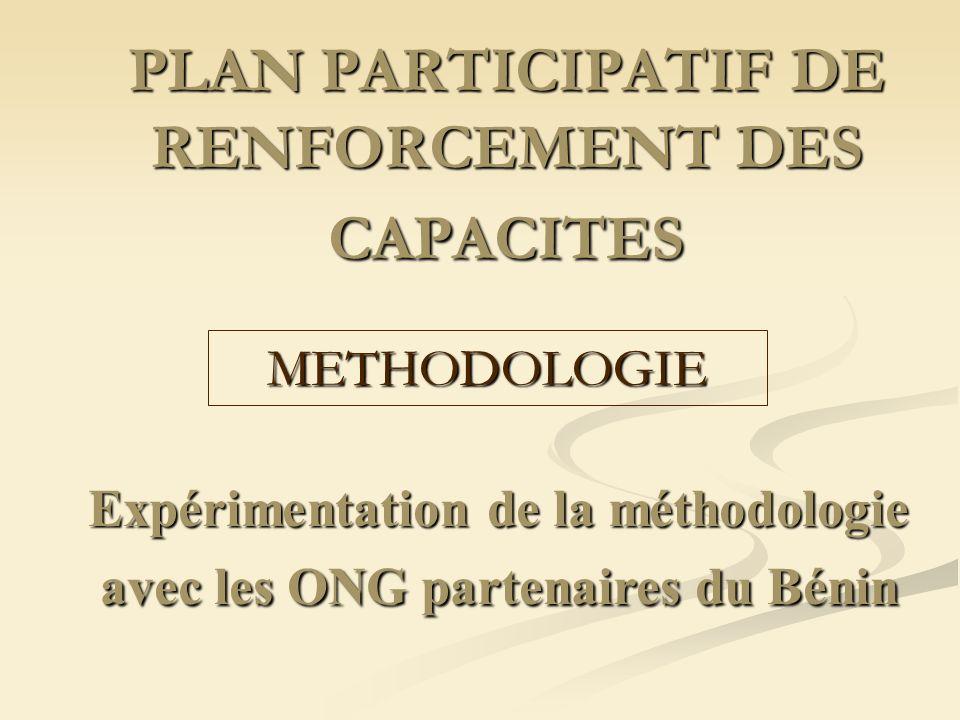 PLAN PARTICIPATIF DE RENFORCEMENT DES CAPACITES