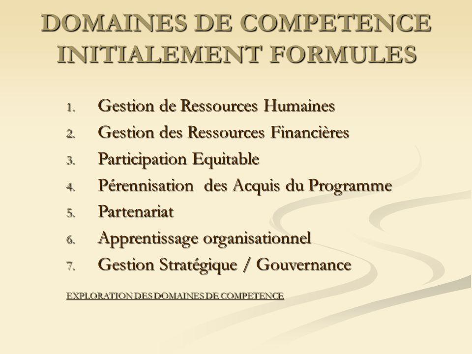 DOMAINES DE COMPETENCE INITIALEMENT FORMULES