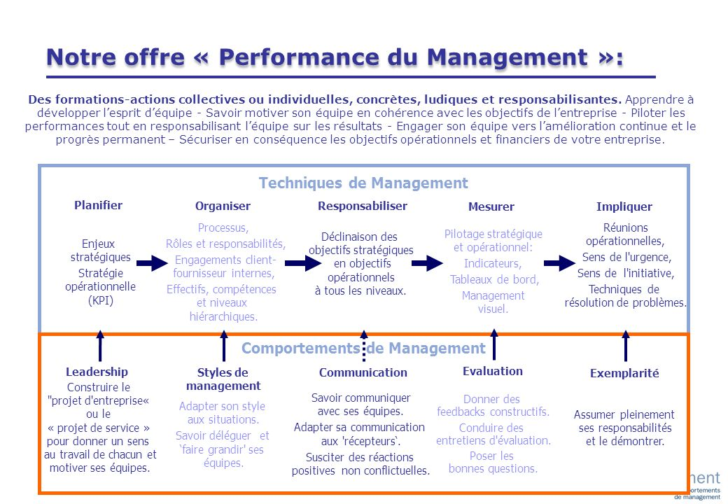 Techniques de Management Comportements de Management