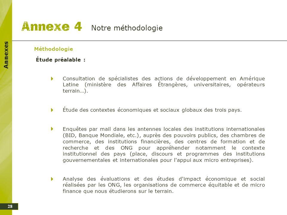 Notre méthodologie Annexes Méthodologie Étude préalable :